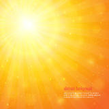 Background with shiny sunbeams Stock Image