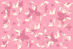 Background with shoes. Pink seamless vector background with shoes Vector Illustration