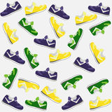 Background from shoes Stock Photo
