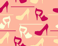 Background shoes and sandals. Vector seamless pattern Royalty Free Stock Image