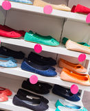 Background with shoes Stock Image