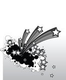 Background shooting stars. Decorative background vector stars , vector illustration stock illustration