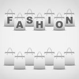 Background shopping bag and inscription fashion Stock Images