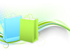Background with shopping bags Stock Image