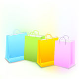 Background with shopping bags Royalty Free Stock Images
