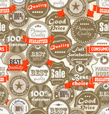 Background of shopping Premium quality labels. Seamless background of shopping Premium quality labels Stock Photography