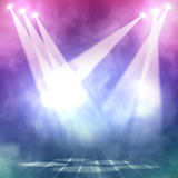 Background in show. Interior shined with a projector Royalty Free Stock Photo