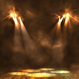 Background in show. Interior shined with a projector. 3d Royalty Free Stock Image