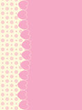 Background With Side Victorian Trim of Hearts and. Eyelet in shades of pink & ecru having plenty copy space Royalty Free Stock Photography