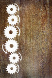 Background with a sidebar made of cogwheels Royalty Free Stock Photo