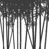 Background with silhouettes of bamboo Stock Images