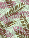 Background with silhouettes of leafs, vector Royalty Free Stock Image