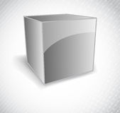 Background with silver  cube Stock Photography