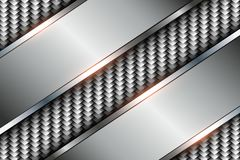 Background silver 3d. Over perforated pattern, vector illustration Royalty Free Stock Photography