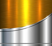 Background silver gold metallic Stock Photography