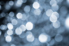 Background of Silver lights with bokeh effect Stock Image
