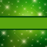 Background of silver luminous. Stars are falling on the background of green luminous - Illustration for your design Royalty Free Stock Photos