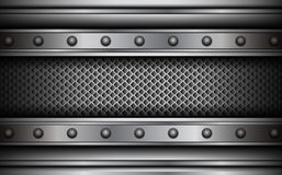 Background silver metallic Royalty Free Stock Images
