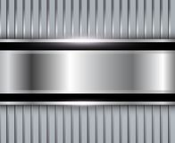 Background silver metallic Royalty Free Stock Image