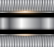 Background silver metallic Stock Images