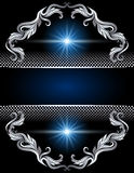 Background with silver ornament Royalty Free Stock Photo