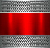 Background silver red metallic Stock Images