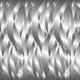 Background of silver ribbons Stock Photos