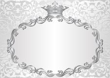 Background. Silver background with royal frame Royalty Free Stock Image