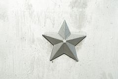 Background of silver star. On the silver wall Stock Photos