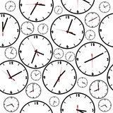 Background with simple clocks Stock Photo