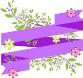 Background with simple purple ribbon Stock Photography