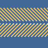 Background of the simple yellow pencils on a blue table.  Royalty Free Stock Image
