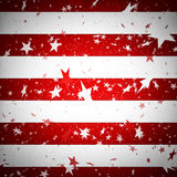 Background simulating the american flag. Wit red stripes and stars Royalty Free Stock Photography