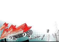 Background with skate. White modern background with skate Stock Image