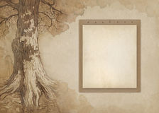 Background with sketch Stock Image