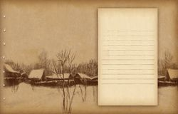 Background with sketch Stock Photography