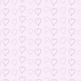 Background with sketched hearts Royalty Free Stock Photos