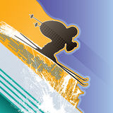 Background with skier Royalty Free Stock Images