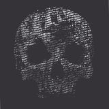 Background with a skull Stock Photo