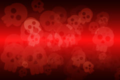 Background with skull. Background black and red with skull Royalty Free Illustration
