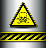 Background with skull danger sign Stock Photos