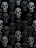 Background with skulls. Background made on black white varying opacities of skulls Royalty Free Stock Images