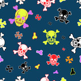 background with skulls Royalty Free Stock Photo
