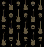 Background with skulls and guitars Royalty Free Stock Photo