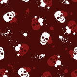 Background with skulls Royalty Free Stock Image