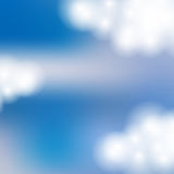 Background of the sky with clouds. Vector illustration. Royalty Free Stock Image