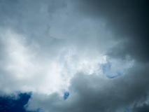 Background of sky with dark clouds. Background of sky with dark clouds before a thunder storm stock photography