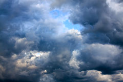 Background from the sky and dark storm clouds Royalty Free Stock Photos