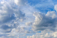 Background sky dramatic clouds. Background of the sky with dramatic clouds Stock Image