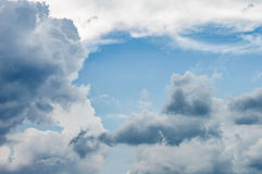 Background sky dramatic clouds. Background of the sky with dramatic clouds Stock Photos